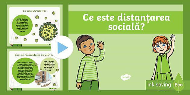 * NEW * Ce este distanțarea socială – Prezentare PowerPoint