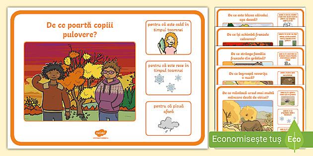 * NEW * Toamna – Cartonașe cu întrebări și ilustrații