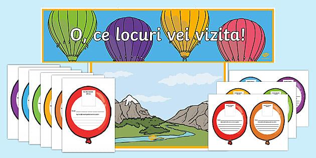 * NEW * Decorul clasei: Călătoriile noastre cu balonul – Pachet cu resurse