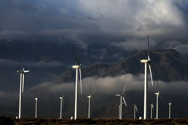 The San Gorgonio Pass wind farm in Palm Springs, Calif., Jan. 6.