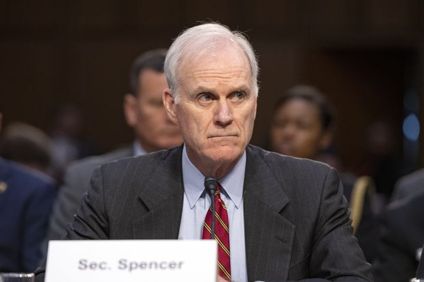 Navy Secretary Richard V. Spencer testified before the Senate Committee on Armed Services last week.