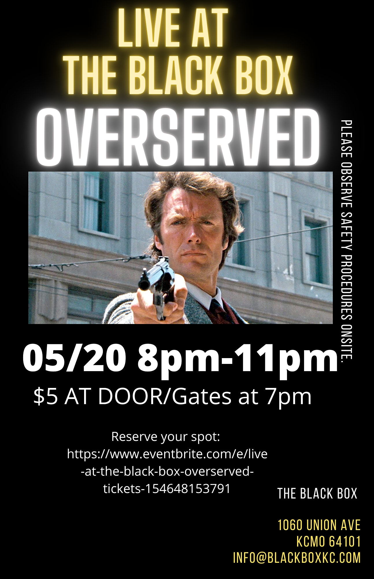 THU, MAY 20, 2021 - LIVE AT THE BLACK BOX: OVERSERVED