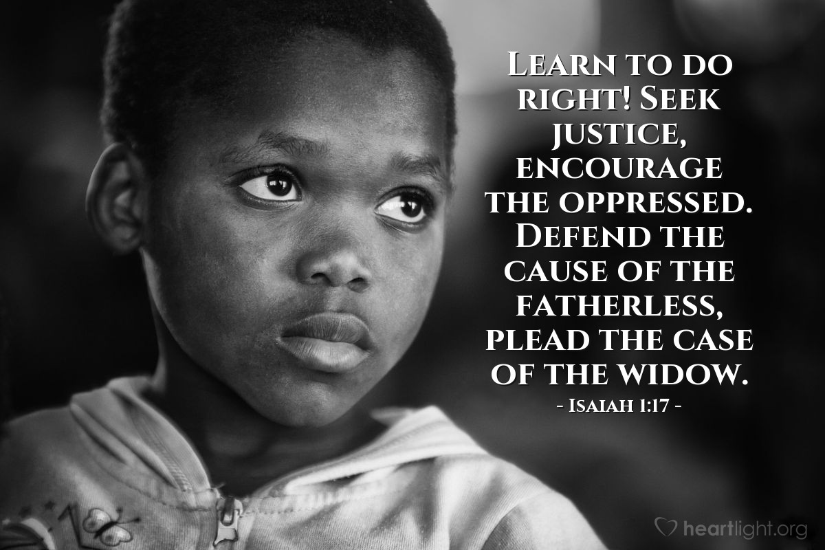 Illustration of Isaiah 1:17