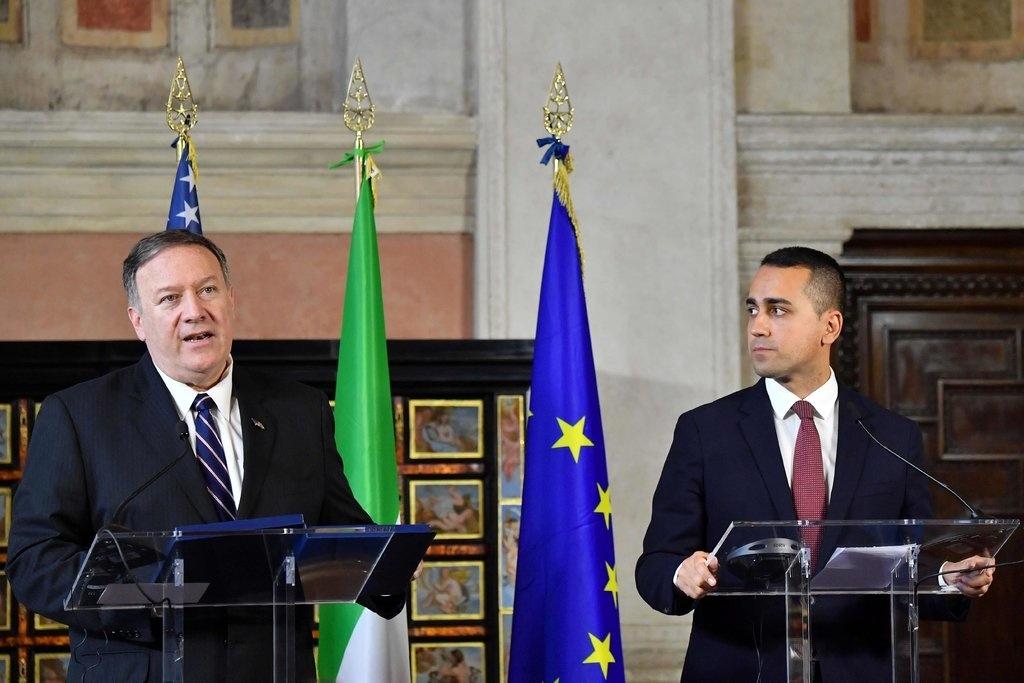 Ông Pompeo đã đến Ý vào ngày 2/10/2019 và cảnh báo với Bộ trưởng Ngoại giao Ý lúc đó là Dimao rằng chiêu bài thương mại của ĐCSTQ là ngụy trang của những mưu đồ chính trị. (Ảnh: Getty)