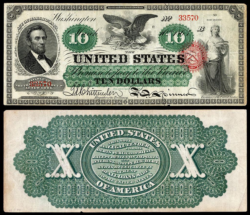 Các ghi chú đặc biệt được in bằng mực xanh ở mặt sau và một con dấu đỏ ở mặt trước để phân biệt với tiền dựa trên nợ, do đó, mới có cái tên: Đồng bạc xanh (Greenbacks).