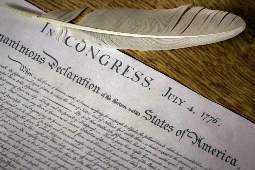 Tuyên ngôn độc lập Mỹ.