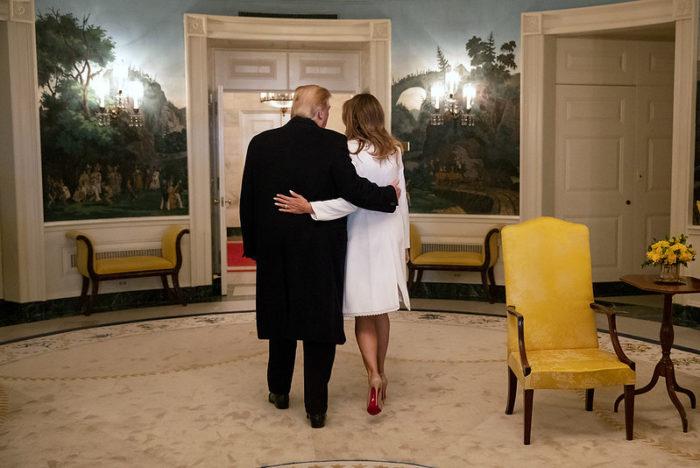 Đệ nhất phu nhân Melania Trump cùng Tổng thống Mỹ Donald Trump tại Nhà Trắng hôm 17/3/2019. (Ảnh: White House)