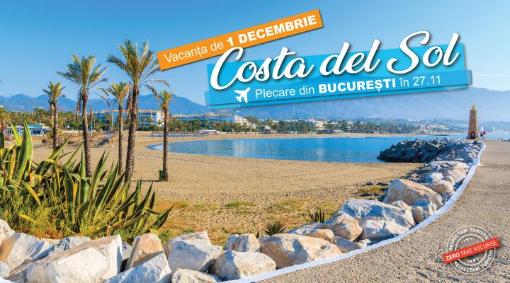 Vacanta 1 decembrie 2021 Costa del Sol - avion - 8 nopti - demipensiune