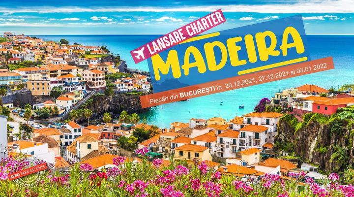 Vacanta de iarna Madeira - Revelion - Craciun - 2021 - 2022 - charter avion zbor din Bucuresti