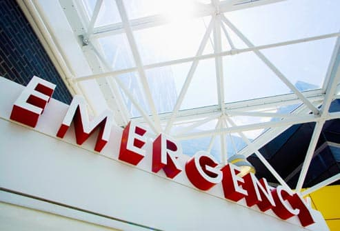 sign for emergency room