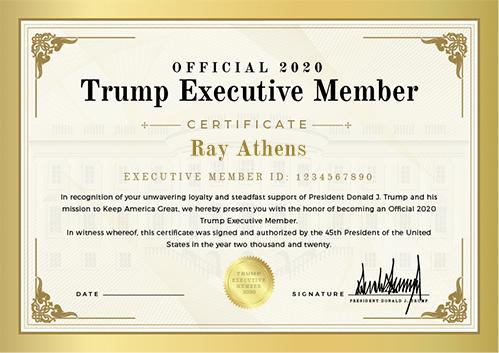 Official 2020 Trump Executive Member