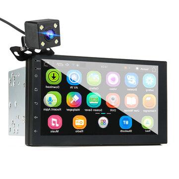 iMars 7 дюймов 2 Din для Android 8,0 Авто Стерео Радио MP5-плеер 2,5D экран GPS Wi-Fi Bluetooth FM с задней камера