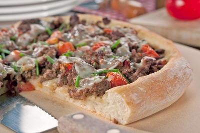 Beefy Garlic Pizza