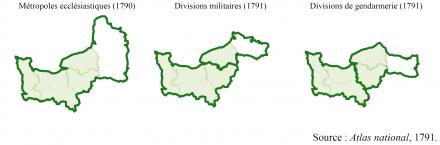 Document 1 – Les départements normands dans les regroupements régionaux de l'Atlas national (1791)