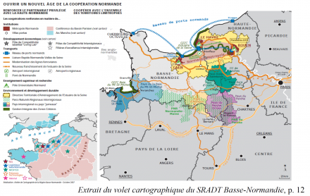 Document 11. La carte au service de la réflexion interterritoriale: le point de vue du Conseil régional de Basse-Normandie
