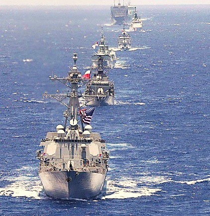 Tàu chiến các nước tham gia tập trận RIMPAC 2018 (Ảnh: US Navy)