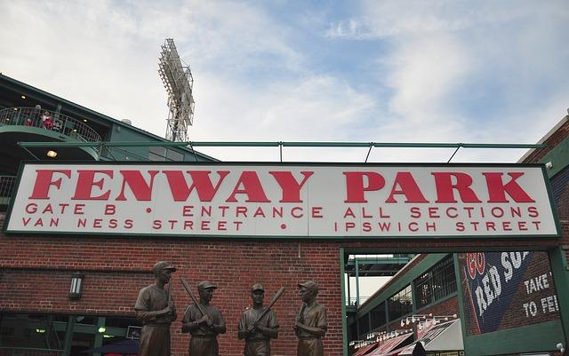 Entrance to the Fenway baseball stadium.