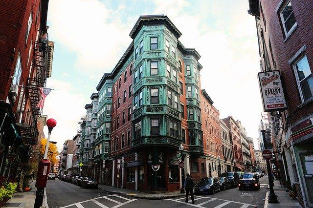 A building in The North End, Boston's Little Italy.