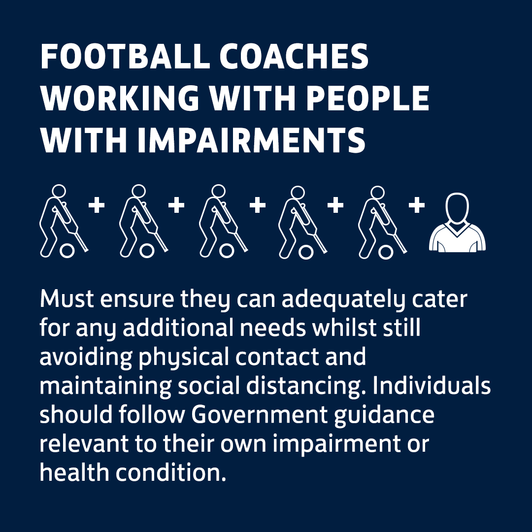 Coaches working with people with impairments