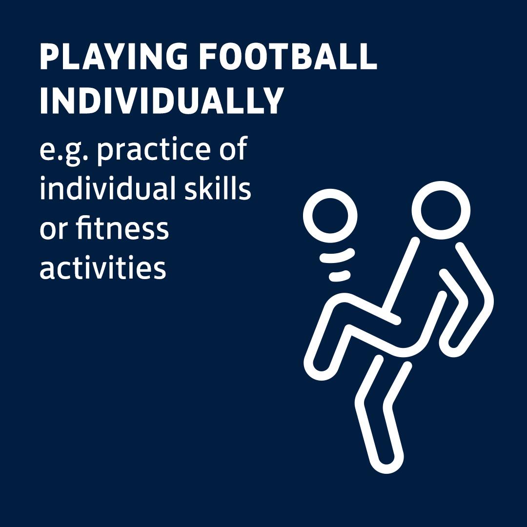 Playing football indivually