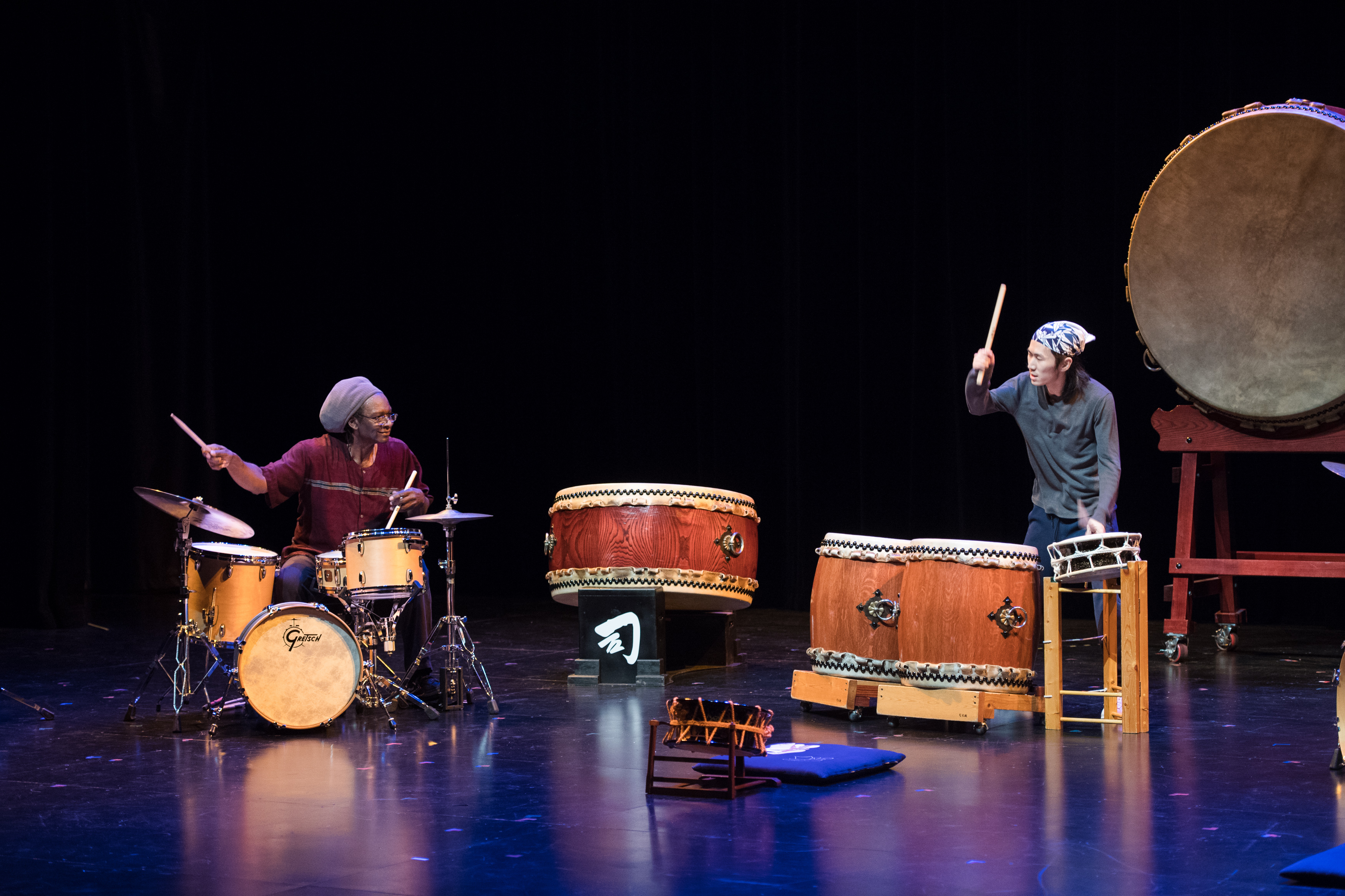 Hamid Drake in a Reduction Concert