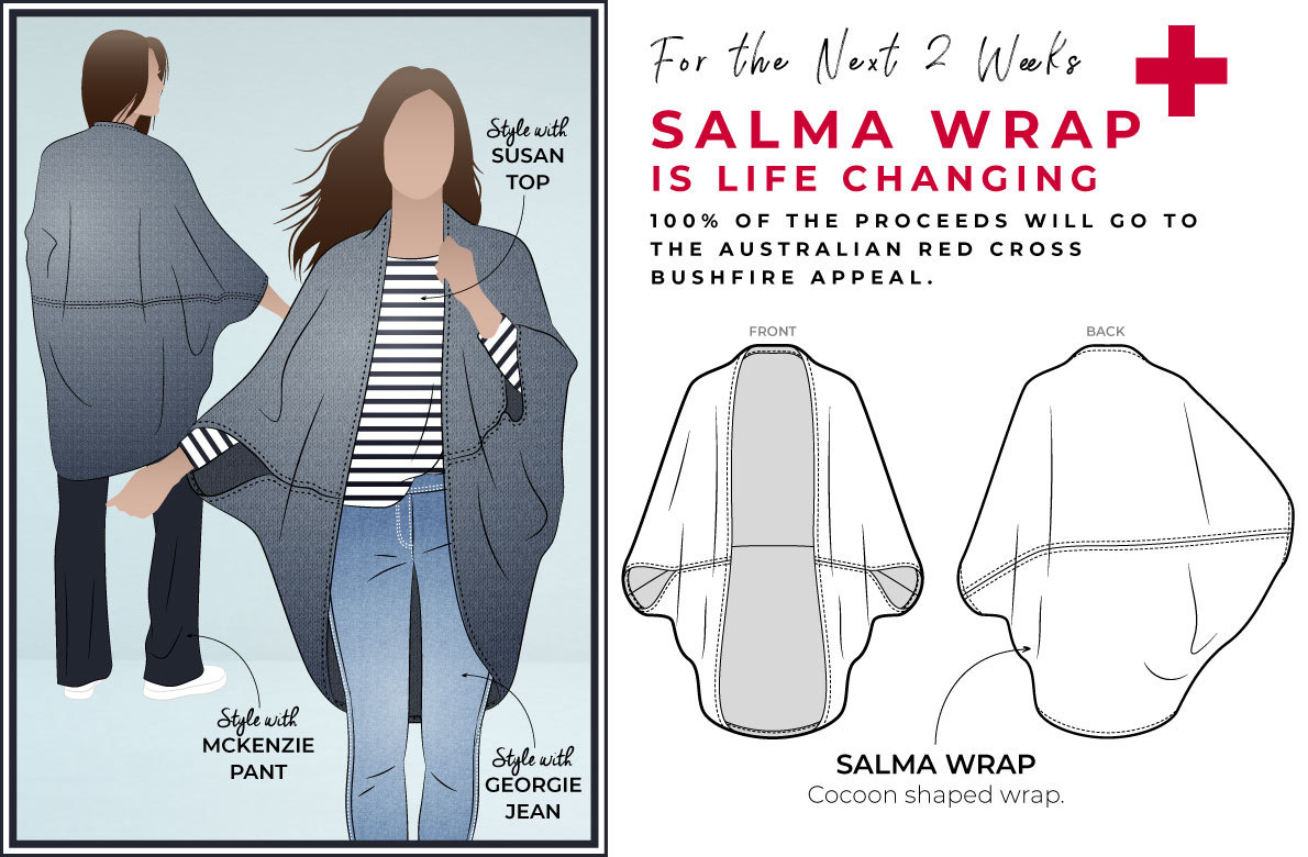 Style Arc's latest release- Salma Wrap- Bush fire relief