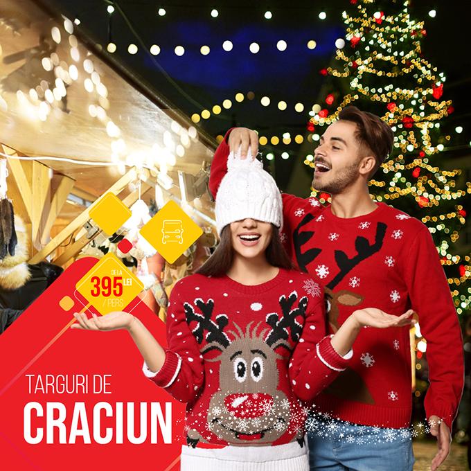 Targuri de Craciun 2021 - Romania si Europa - transport autocar inclus - tarife - rezervari online