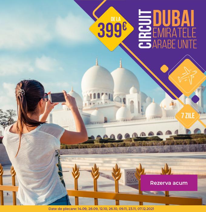 Dubai - plecari toamna 2021 - de la 399 euro avion - rezervari online - tarife