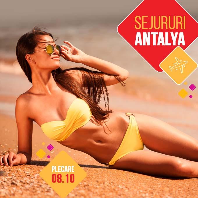Antalya - Turcia - Utra last minute - tarife de nerefuzat - charter avion - plecare 08.10.2021 - rezervari online