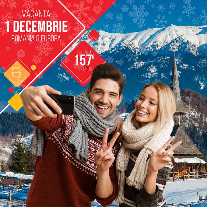 Vacanta 1 Decembrie 2021 - Romania si Europa - transport autocar inclus - rezervari online