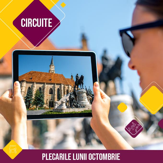 Circuitele lunii Octombrie 2021 - Romania si extern - autocar si avion - tarife - rezervari online