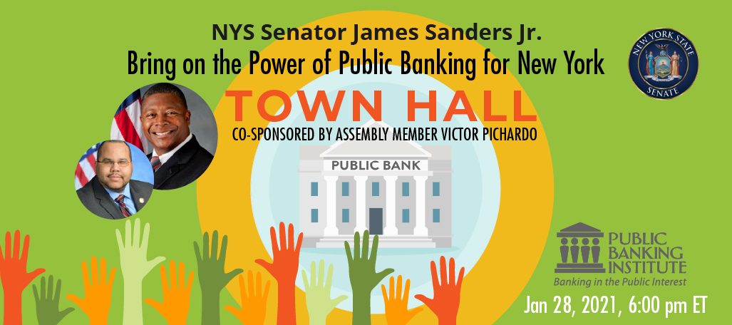 New York Town Hall on Public Banking @ Online