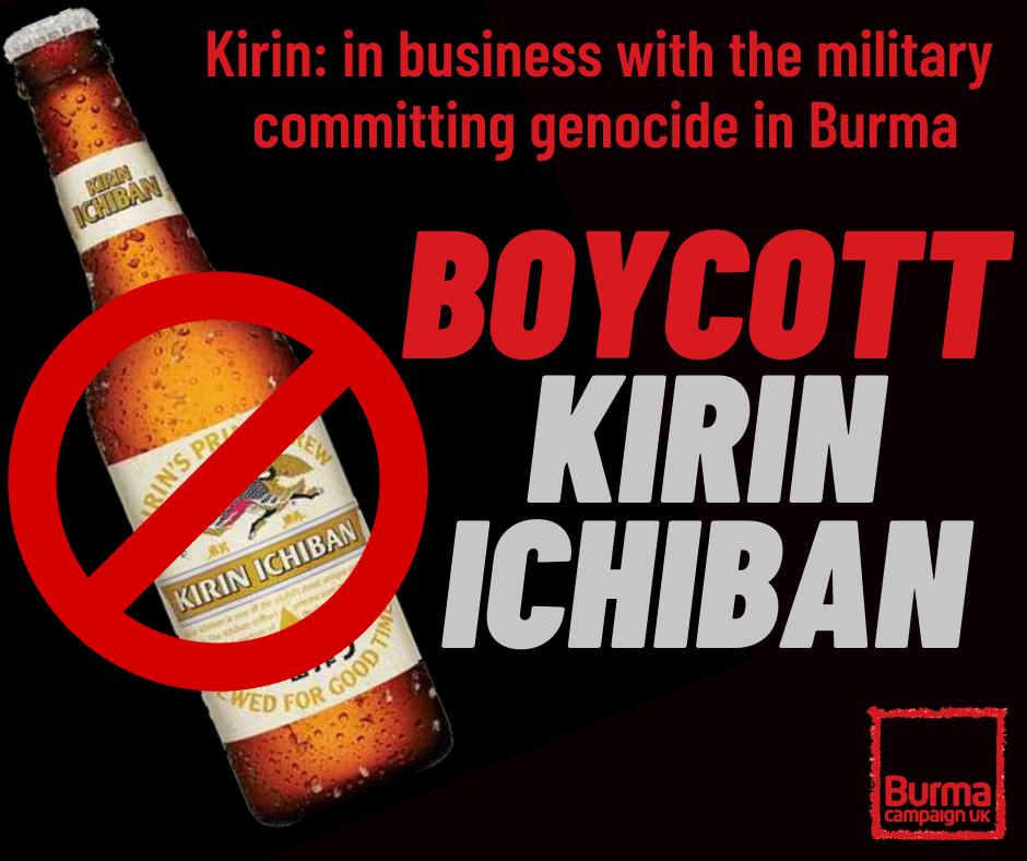 Boycott Kirin Ichiban