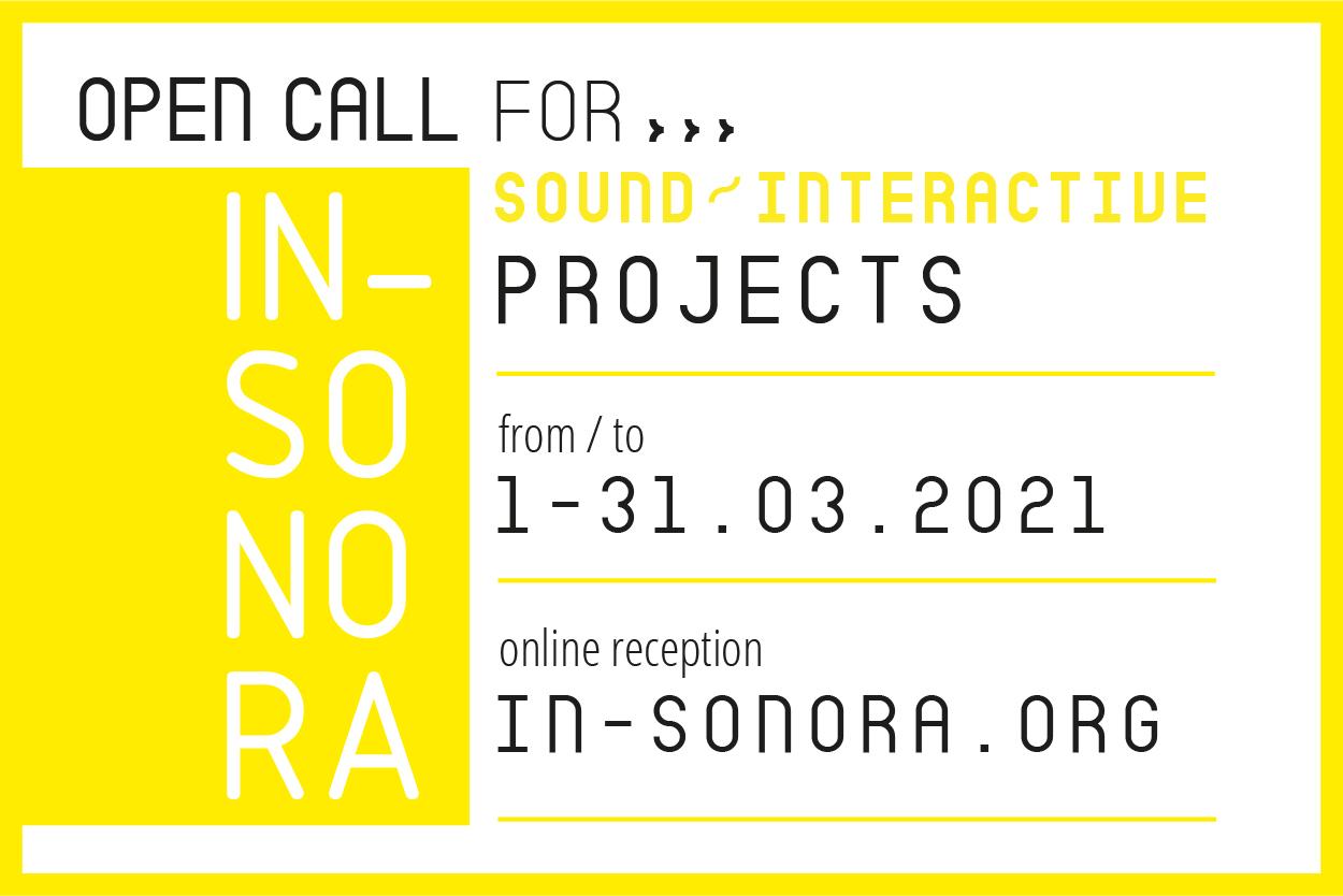 Convocatoria 2021 / IN-SONORA 12 Open Call