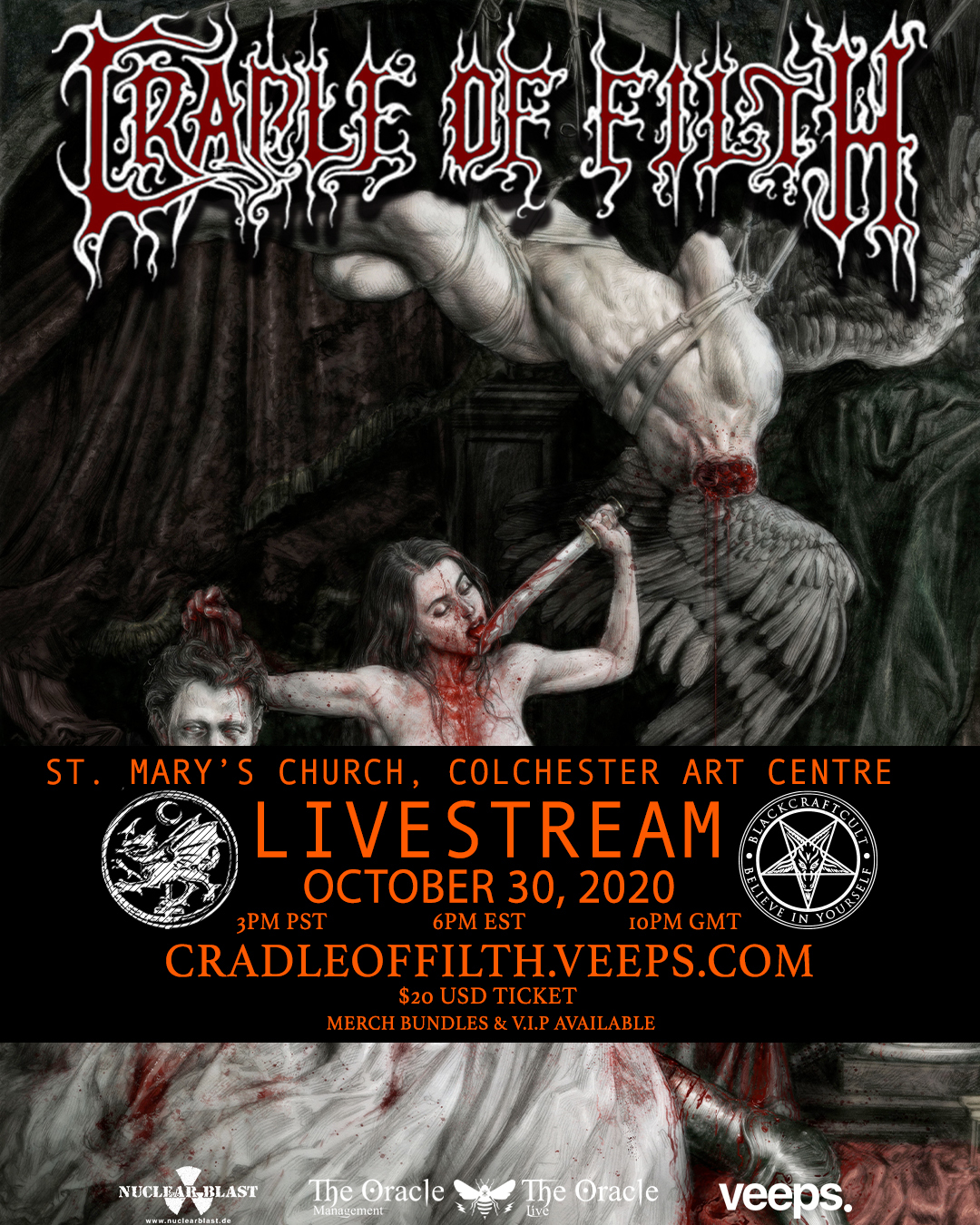 Church Street Halloween 2020 CRADLE OF FILTH   Announce Halloween Live Stream Concert From St