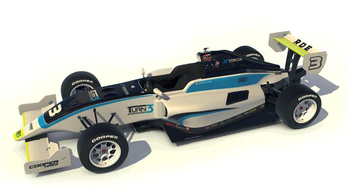 James Roe's #3 Topcon / Turn 3 Motorsport Indy Pro 2000 Race Car