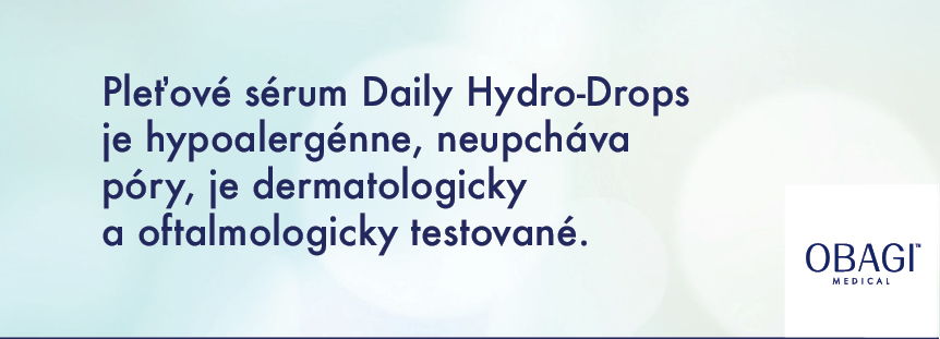Pleťové sérum Daily Hydro-Drops je hypoalergénne, neupcháva póry, je dermatologicky a oftalmologicky testované.
