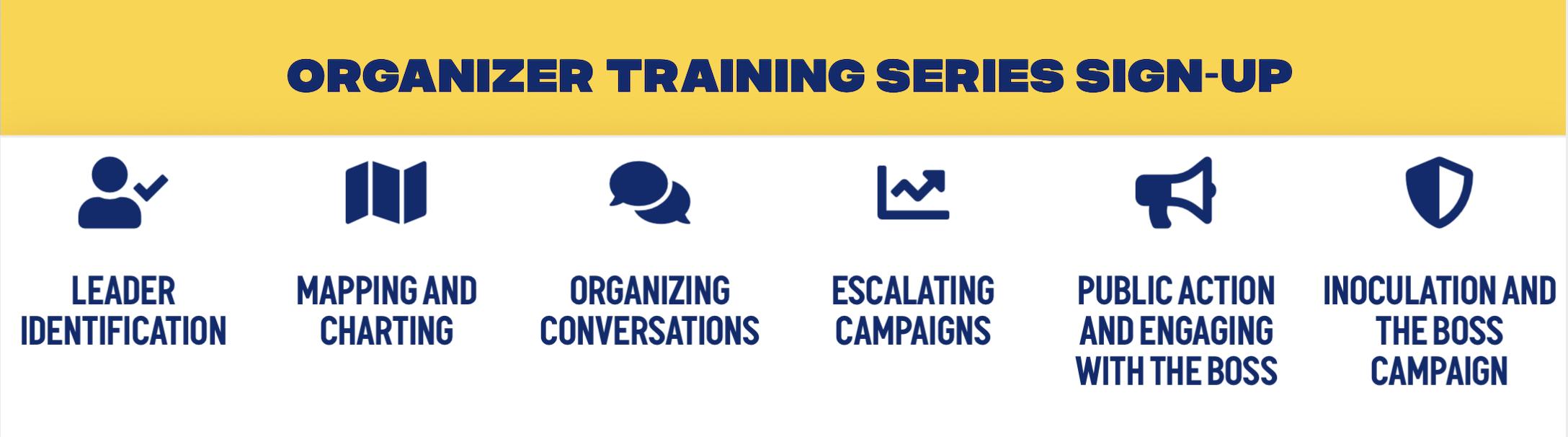 Emergency Workplace Organizing Committee's Organizer Training Series @ Online