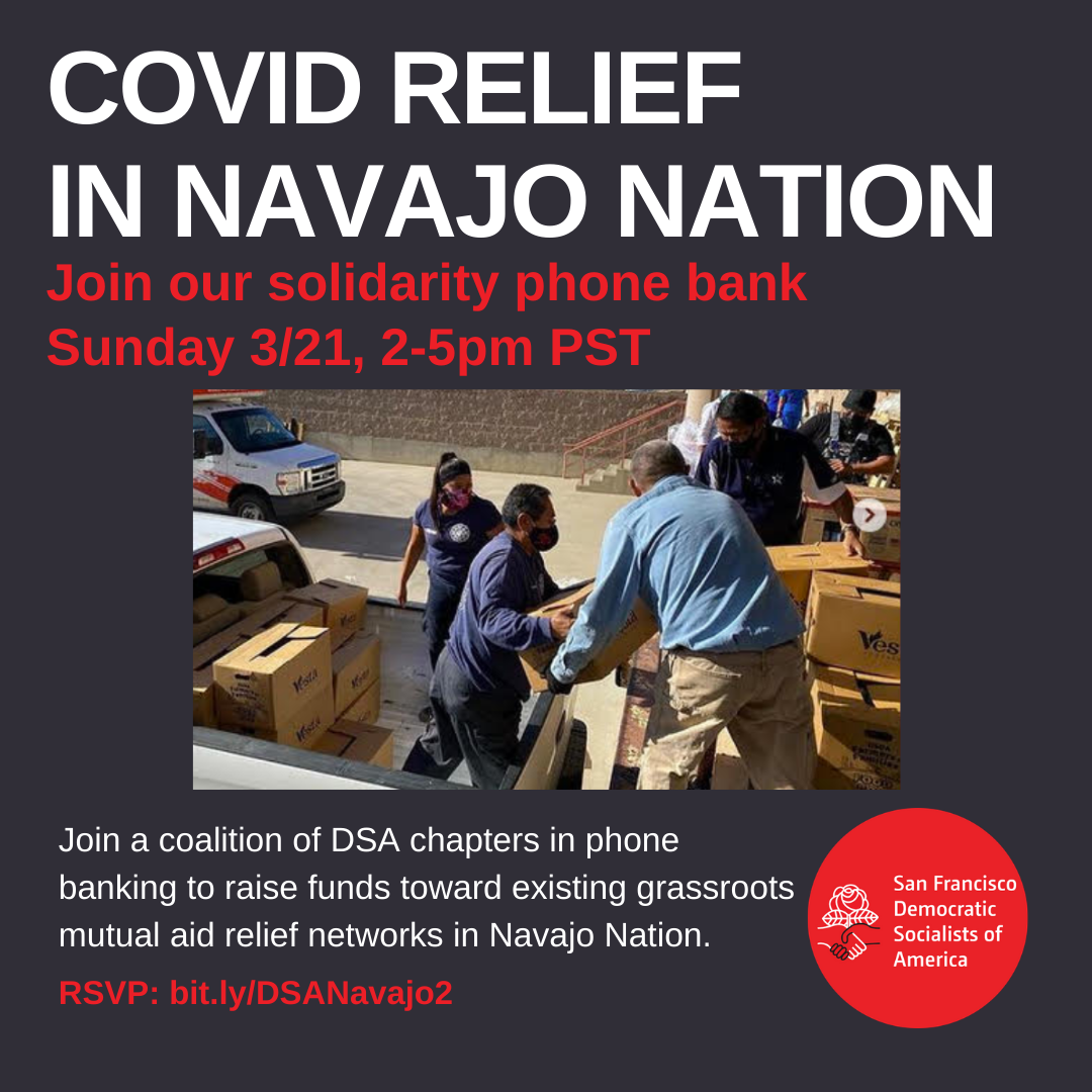 COVID-19 Relief In Navajo Nation Solidarity Phone Bank @ Online