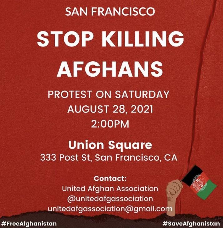 Stop killing Afghans protest @ Union Square