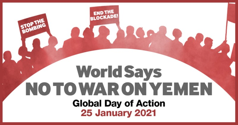 Take Action to Stop the War in Yemen @ Online plus car caravan