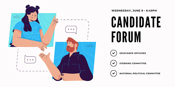 DSA SF Candidate Forum @ Online