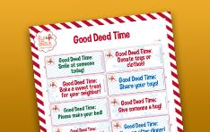 Image of Good Deed Time printable