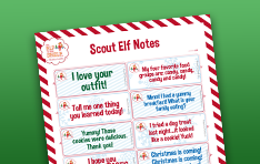 Image of Scout Elf Notes printable