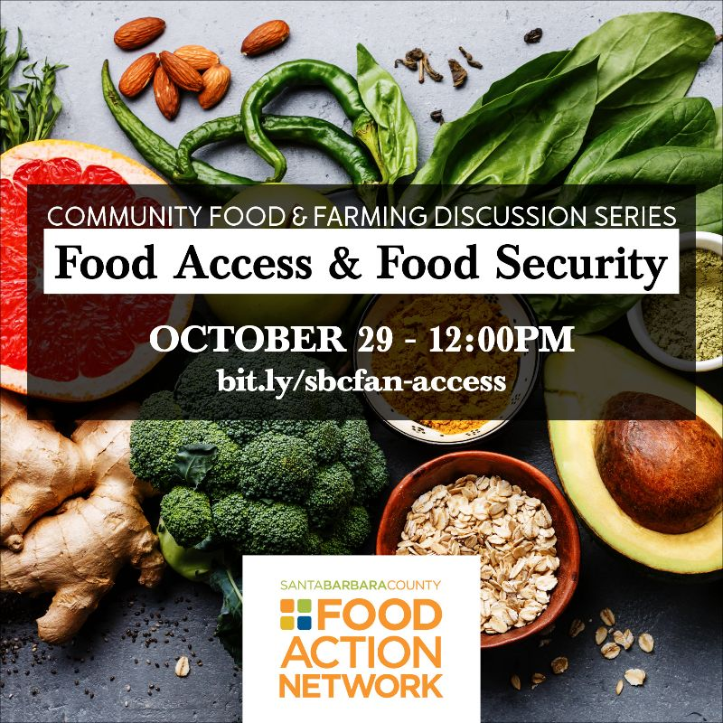 Food Access & Food Security - October 29 - noon