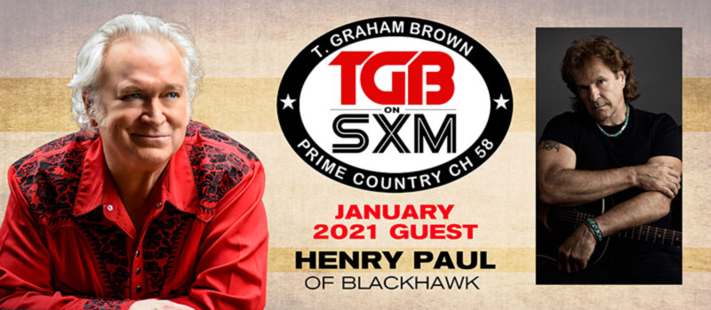 T. Graham Brown and Henry Paul of Blackhawk on SiriusXM Prime Country Channel 58