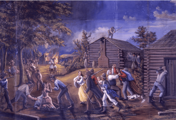 The Saints are Driven from Jackson County, Missouri, by C.C.A. Christensen