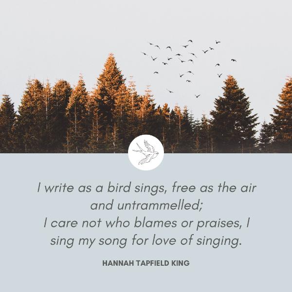 Hannah Tapfield King, Poetess and Pioneer