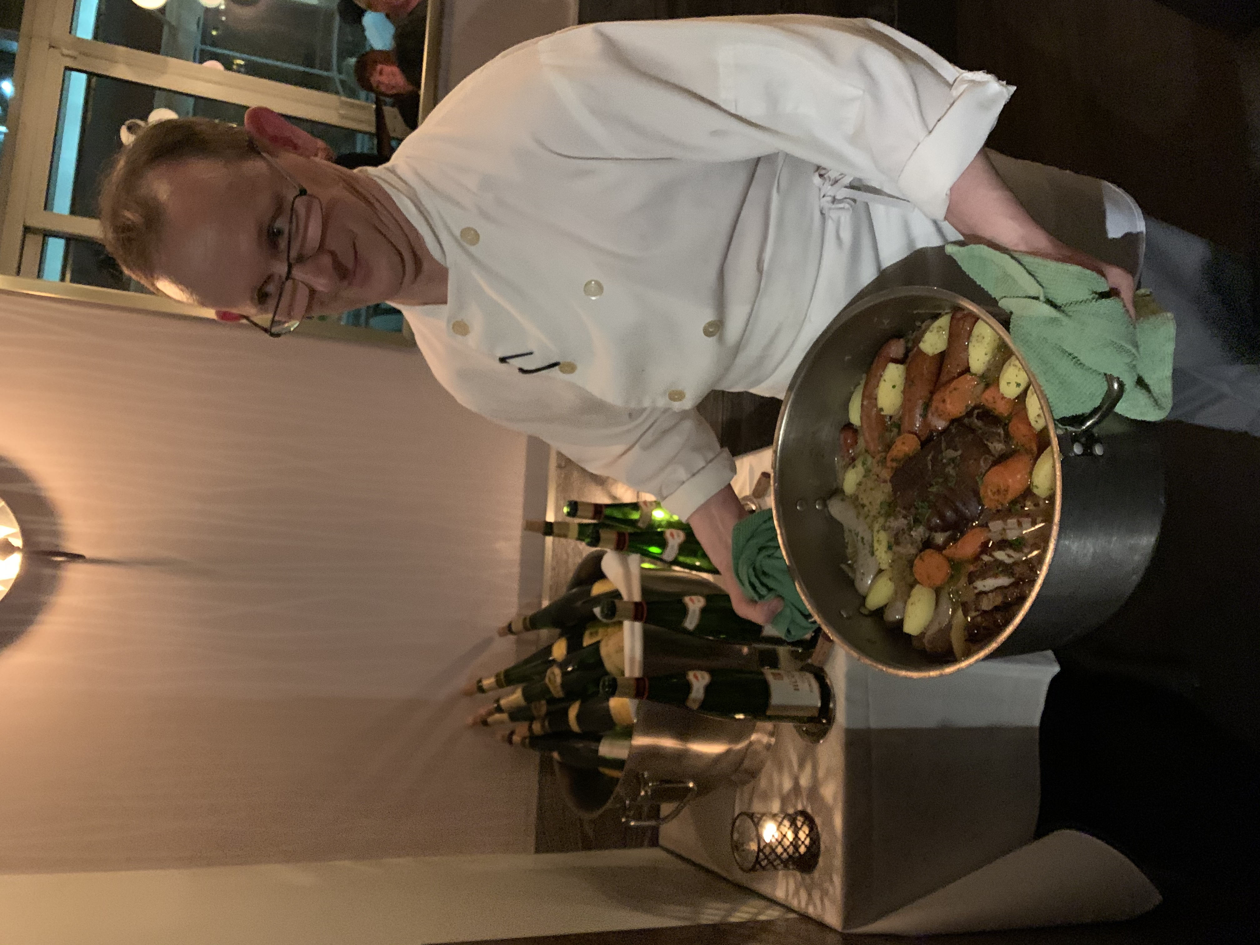 Provence Sous Chef Richard Hondier presenting his Choucroute at Hugel Wine Dinner earlier in 2020