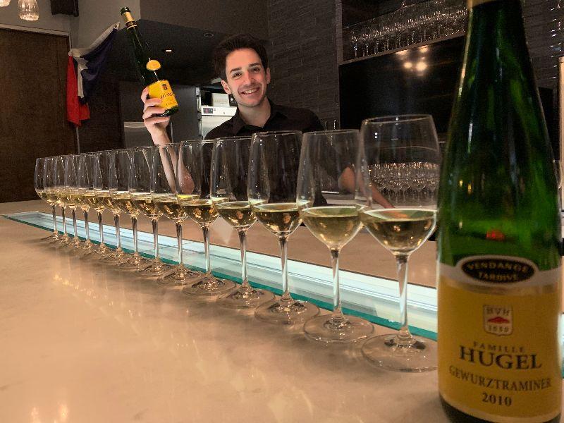 Provence Sommelier Benoit Castel with Hugel Wines